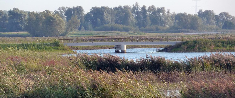 brugontwerp kreekbrug met prefab betonnen steunpunten in de Noordwaard, Ruimte voor de Rivier