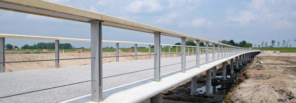 verkeersbrug Westenholte, Vreugderijkerwaard, brugontwerp door ipv Delft,