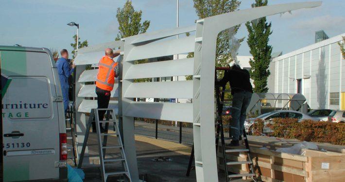 bouw van inrichting openbare ruimte, productie, ontwerp door ipv Delft