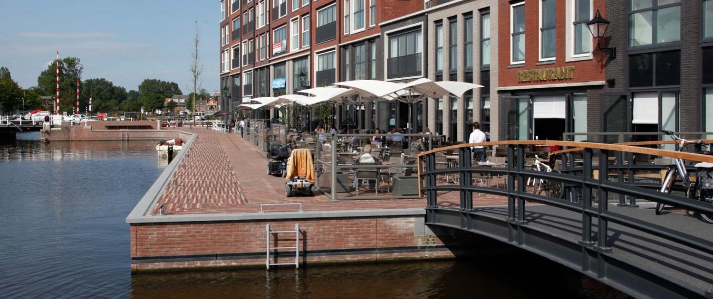 passantenhaven Schelphoek Alkmaar stalen fiets- en voetgangersbrug