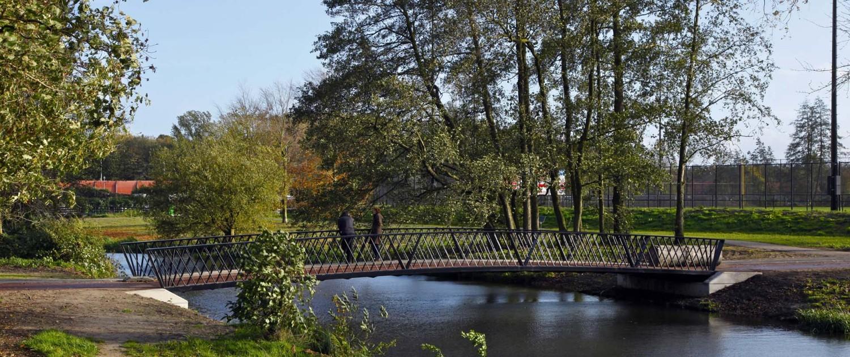 voetgangersbrug park Randenbroek Amersfoort parkachtige bruggen