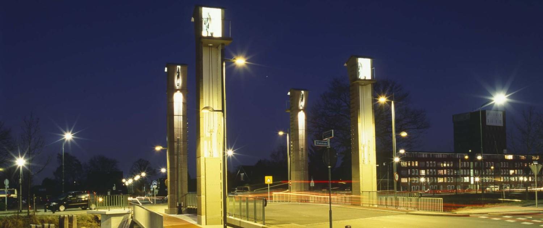 monumentale Welgelegenbrug Apeldoorn extra derde rijbaan nacht verlichting