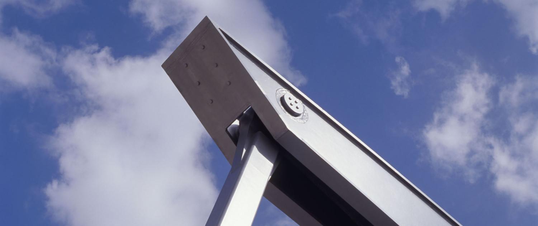 Nieuwe Witterbrug Assen moderne variant van ophaalbrug met één hamei en één balanspriem