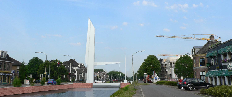 beweegbare Nieuwe Witterbrug Assen opvallende brug die de toegang naar de binnenstad benadrukt