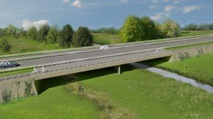 Buitenring Parkstad Limburg strakke robuuste randligger verkeersbrug