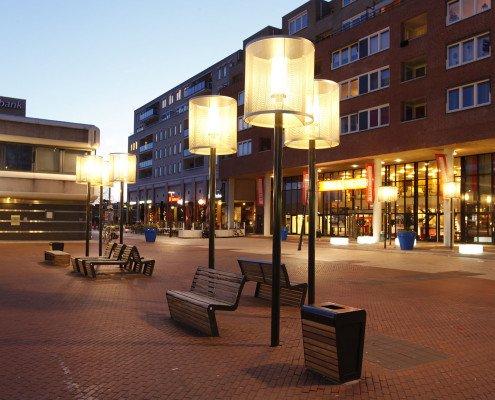 outdoor lampenkap met diffuus licht, warme, huisselijke sfeer, vandalismebestendige lamp, door ipv Delft
