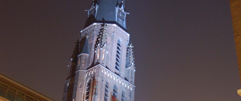 lichtontwerp-aanschijnen Sint Jacobuskerk Den Haag
