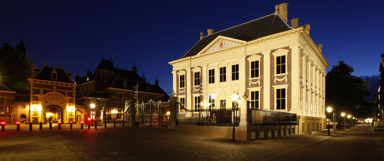 lichtontwerp Mauritshuis kolommen springen er visueel uit