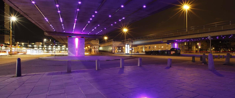 lichtontwerp Light Wave Den Haag interactieve aangestuurde verlichting RGB-leds