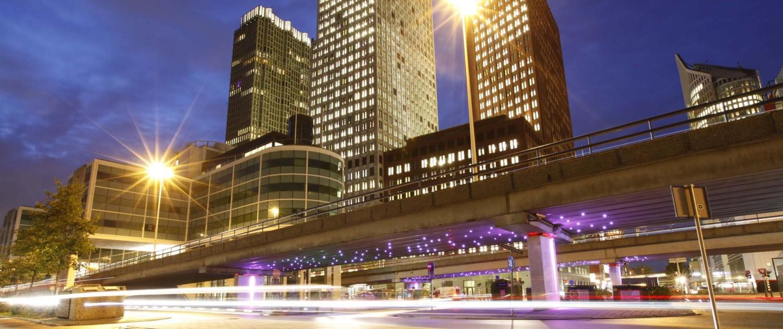 lichtarchitectuur Light Wave Den Haag telkens veranderend beeld