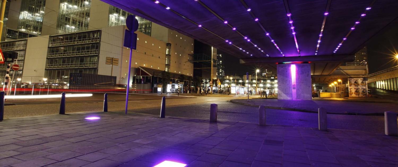 lichtkunstwerk Light Wave Den Haag geavanceerde sensortechniek lichttegels