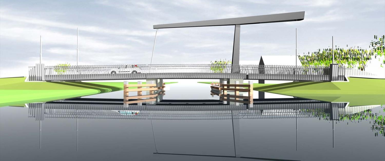 beweegbare ophaalbrug Gorredijk zijaanzicht
