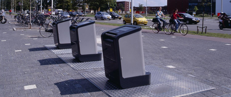innovatieve tweekleurige inwerpzuil Eindhoven overzicht