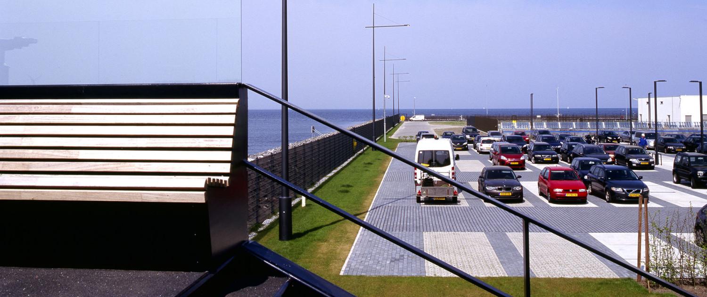 landscaping Electrakabel Maximacentrale uitkijkpunt panoramaterras van landschapsontwerp