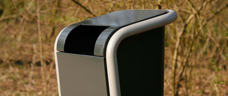 afvalbak Falco Linea robuuste afvalbak logisch gepositioneerde inwerp-opening