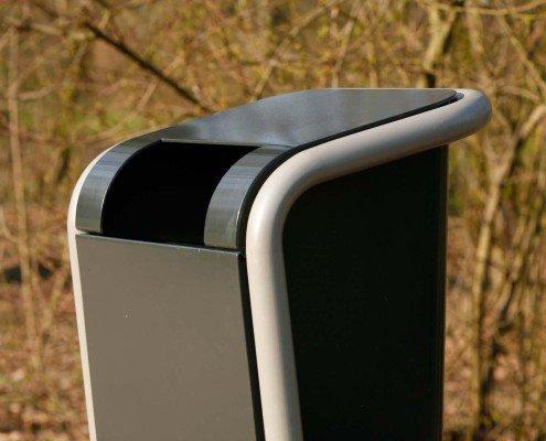 afvalbak FalcoJona robuuste afvalbak logisch gepositioneerde inwerp-opening