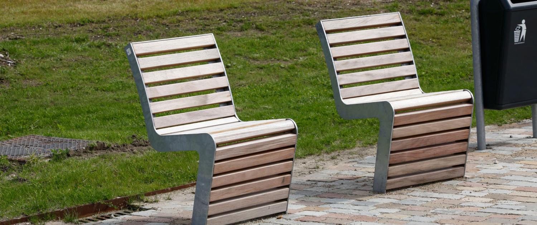 straatmeubilair stoel comfortabele, ontspannen zit