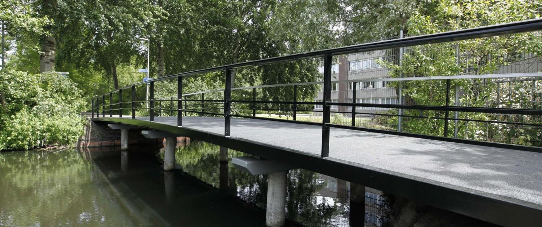 eenvoudig duurzaam bruggensysteem Gouda met betonnen funderingspalen