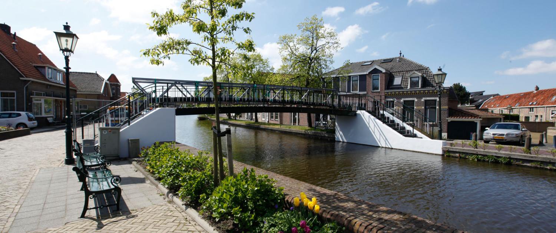 hofbrug renovatieplan stalen brugconstructie Midden Delfland, brugontwerp door ipv Delft