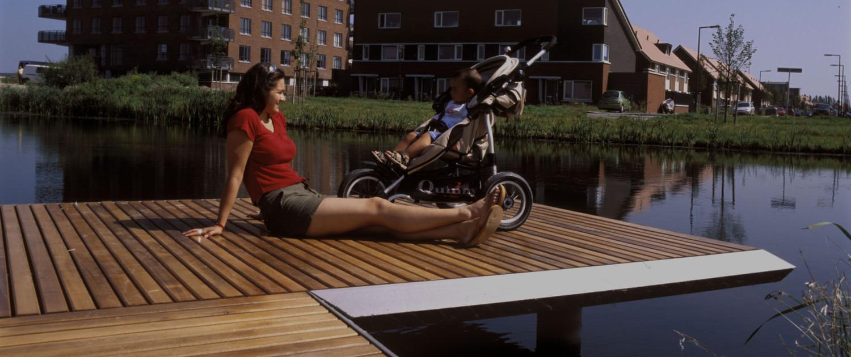 bruggen Stroompark Rotterdam (vis)steiger
