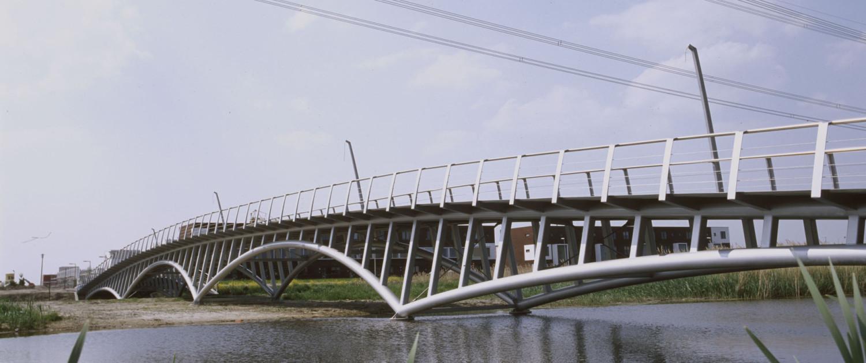 fiets- en voetgangersbrug Stroompark Rotterdam