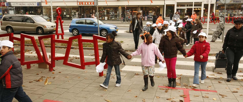 bewegwijzering Kindercampus Pendrecht veilig door de wijk oversteekplaatsen