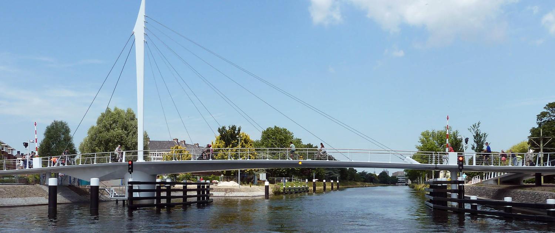 beweegbare fietsbrug Rijn-Schiekanaal Rijswijk