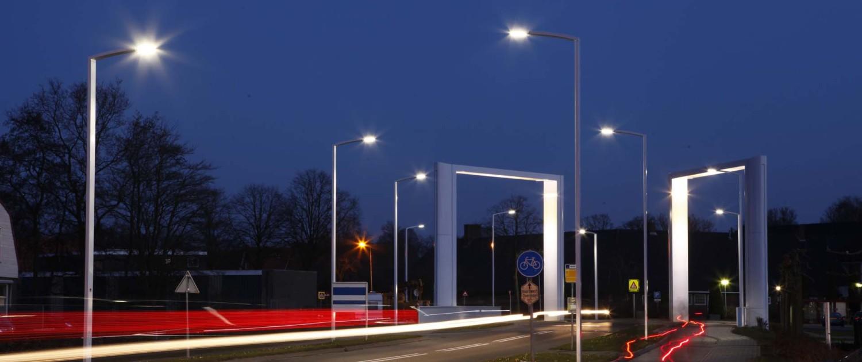 lichtmasten lichtarchitect Dolderbrug Steenwijk nacht verlichting