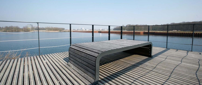 vlonders T58 Tilburg omhoog golvende banken