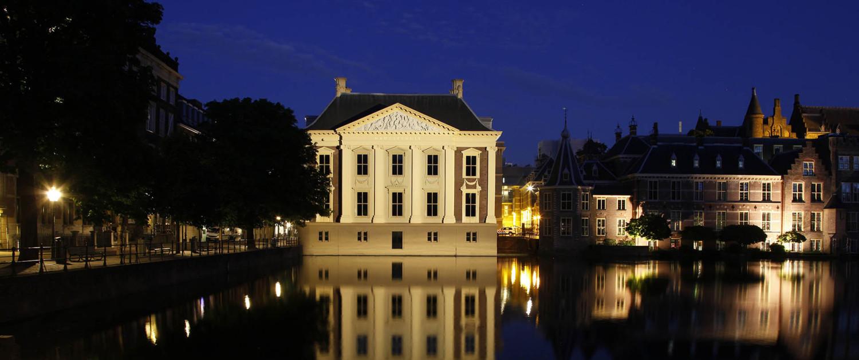 lichtontwerp Mauritshuis kolommen springen er visueel uit lichtdesign
