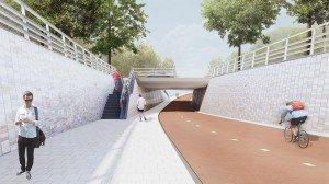 fietstunnel ontsluiting Bio Science Park Leiden
