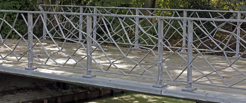 hekwerk uit staal voor UHSB standaardbrug foto: ipvDelft