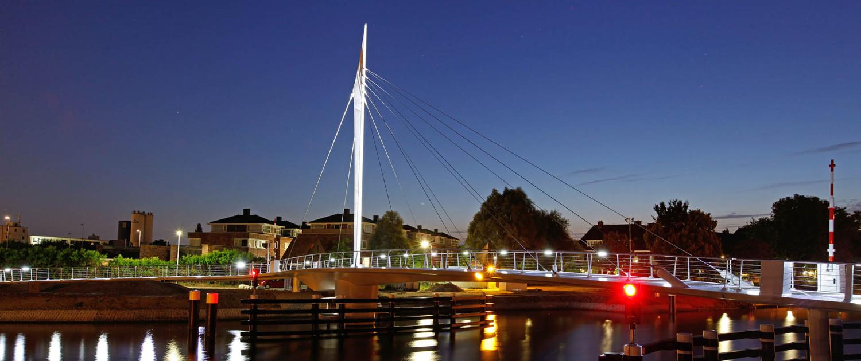 De Oversteek Draaibrug Rijswijk lichtontwerp ipv Delft
