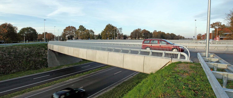 otonde en fietsbrug Rondweg Emmen ongelijkvloerse kruisingen