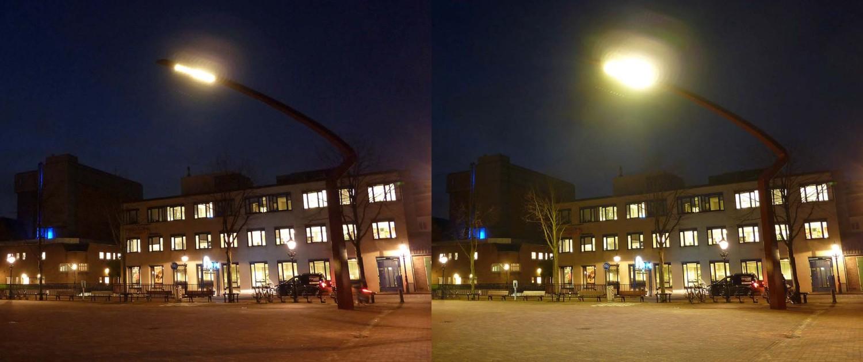 lichtmasten Paardenmarkt met dimbare verlichting in Alkmaar, artistieke vorm, ontwerp door ipv Delft