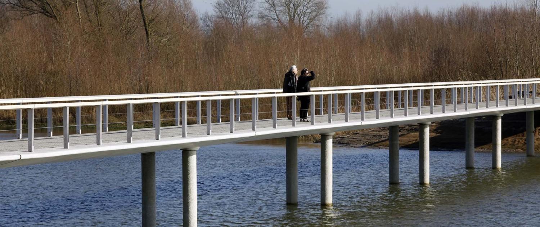 Fortmond Olst brug van beton, neutrale brug, hydrodynamisch brugontwerp door ipv Delft