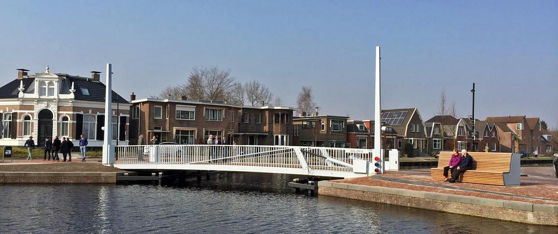 beweegbare brug, fietsbrug Willem lll, Assen, brugontwerp door ipv Delft