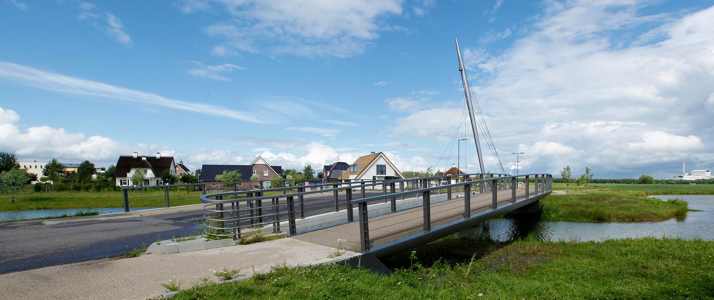 pyloonbrug Beuningse Plas dubbele bruggen gekromde vorm fietsbrug Lagunesingel