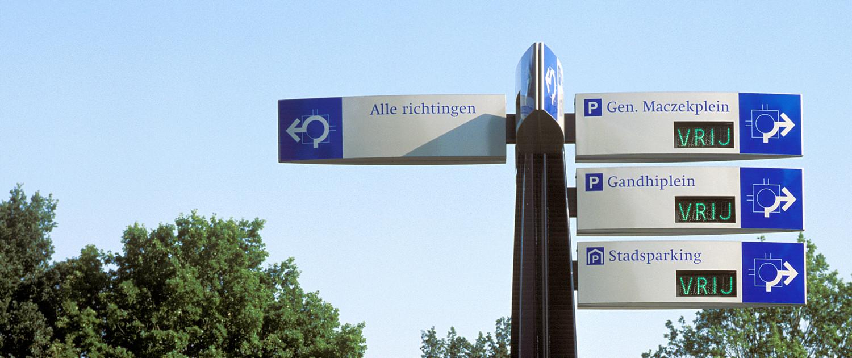 dynamische bewegwijzering voor de parkeerroute Stadskanaal duidelijke richtingsfunctie