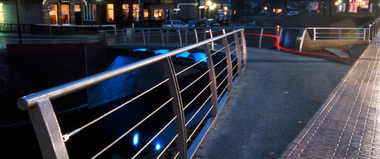Looijersgracht toegankelijke fiets-en voetgangersbrug Steenwijk mindervaliden