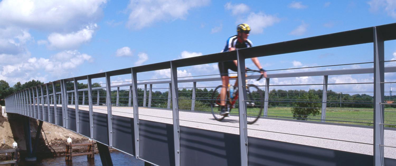 Hilversum Kanaal `s Graveland fietsbrug esthetische uitvoering