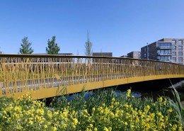 verkeersburg Alphen a/d Rijn, kunststof wegdek, karakteristieke afbeelding plaatstaal brugontwerp