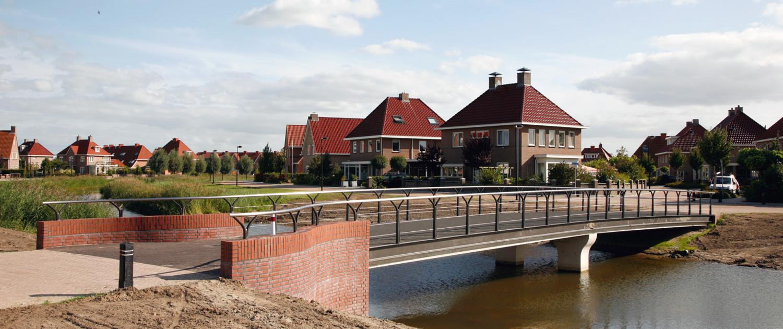 Het Onderdijks Kampen twee fiets- en voetgangersbruggen en duikerbrug brugontwerp