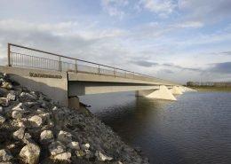verkeersbrug Kalverwaard Rijkswaterstaat, brugontwerp door ipv Delft, deel van brugfamillie Noordwaard, project Ruimte Voor De Brug