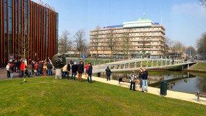 bezoek voetgangerbrug de Tanerij tijdens vakexcursie ipv Delft 2015