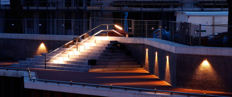 verlichting van kade, lichtvisie Dalfsen , lichtontwerp door ipv Delft