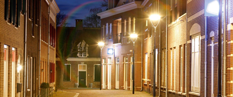 lichtvisie Dalfsen, nachtverlichting, unieke armaturen, sfeerlicht en functioneel licht, lichtontwerp door ipv Delft