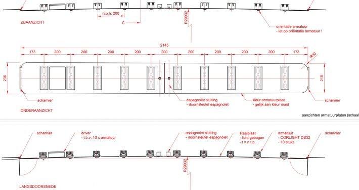ontwerp Paardenmarkt, ontwerp op papier, bouwtekening, ontwerp door ipv Delft