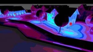 lichtberekening 3d ipv Delft lichtontwerp, licht in beeld