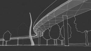 ontwerp voor verkeersbrug, brugontwerp door ipv Delft
